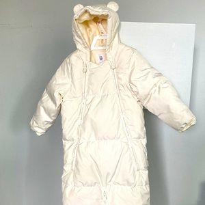 Baby winter down bodysuit